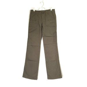 Anthro Jeans Mid-Rise Bootcut Green Stretch 28x33
